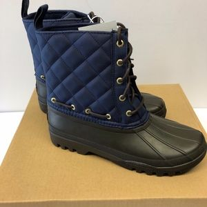 New Sperry Duck Boots Navy/Brown